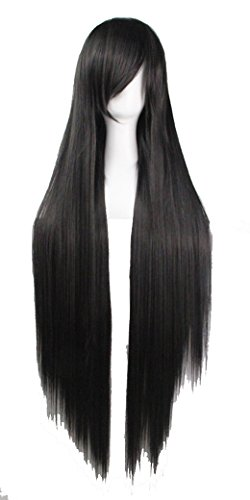 Costume Halloween Perruque (KUPARK 100cm Long Straight Cosplay Halloween Costume Anime Party Wigs)