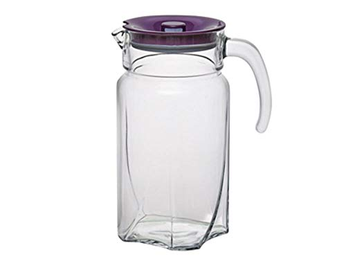 Pasabahce Luna Water Jug with Purple Lid, 1750 ml