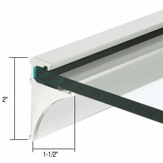 CRL 24'' Brite Anodized Aluminum Shelving Extrusion for 1/4'' Glass
