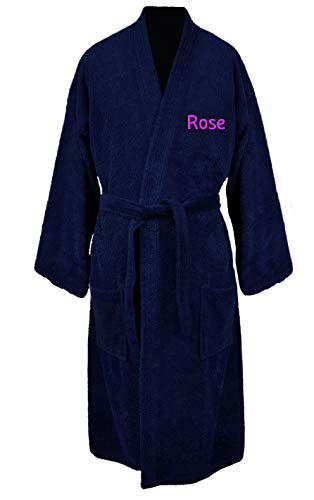 Turkuoise Women's Personalized for Christmas Terry Cloth Robe Turkish Cotton Terry Kimono - Monogrammed Terry Cloth