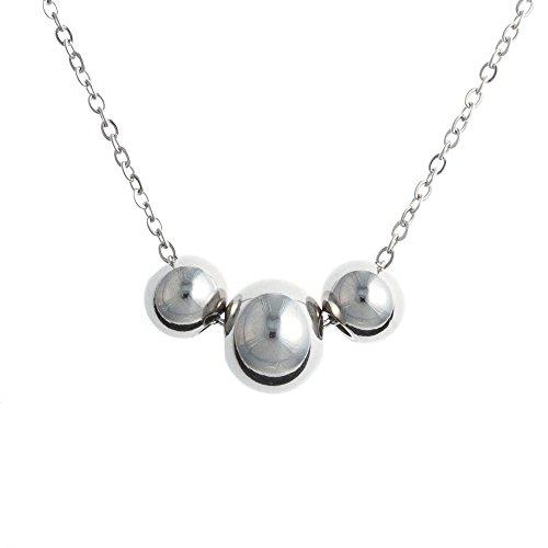 Collier en acier 3 sphères