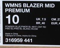 Nike Kvinders Blazer Mid Premium Sneakers 316.959 Lyseblå / Lyseblå-hvid-rød BJx4J0ow3G