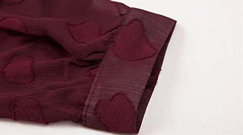 In Camicetta Donne Elegante Delle Chiffon Ericcay Allentato E Rosso Magliette Camicia PIxq5IH