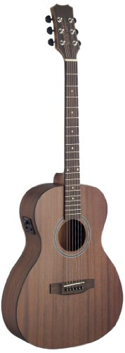 (James Neligan DEV-PFI DEVERON Series Acoustic-Electric Parlor Guitar with FISHMAN)