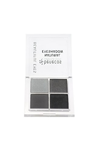 - Benecos Quattro Eyeshadow Palette - Matte & Shimmering Long-Lasting Smudge-Free Natural Eye Shadow Makeup (Smokey Eyes)