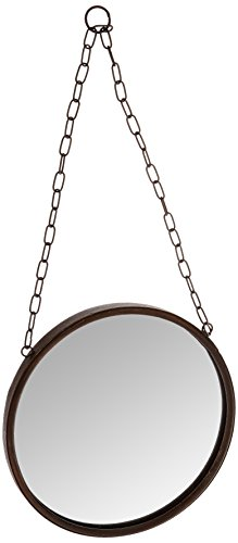 Cheap Creative Co-Op DA1392 Medium Round Metal Framed Wall Mirror with Chain