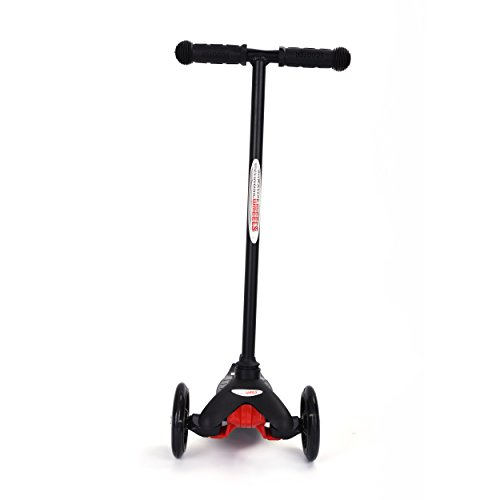MINI GLIDEKICK 3 WHEELS BALANCE SCOOTER W/LIGHTS-black Scooter W/ 3 Wheels