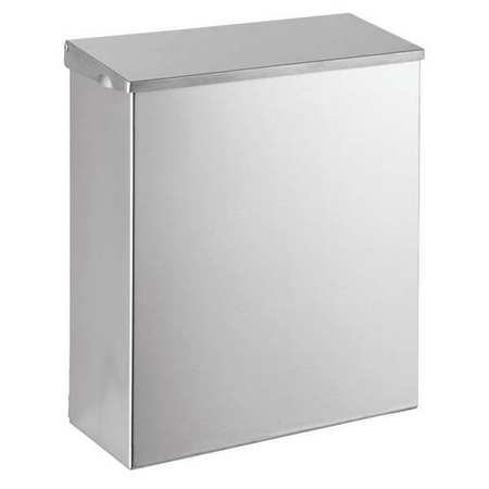 Tough Guy 1ECK9 Wall Mounted Receptacle, Silver
