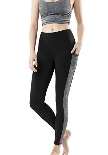 - TSLA Yoga Pants Mid-Waist/High-Waist Tummy Control w Pocket Series, Pocket Aerisoft Midwaist(fyp73) - Black, X-Large (Size 12-14_Hip43-45 Inch)