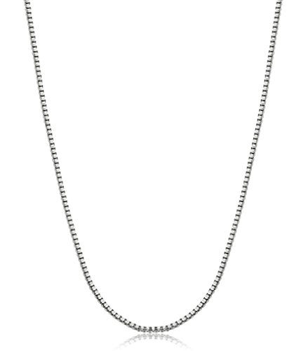 Jstyle Jewelry 1MM Sparkling Stainless Steel Box Chain Necklace, 14-30 Inch