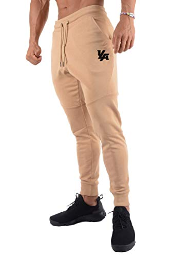 YoungLA French Terry Cotton Sweatpants Jogger Pants Camel X-Large