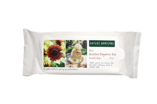 Nature babycare Eco Sensitive Fragrance-free Wipes with Aloe, 70-Count Packages (Pack of 10) (700 Wipes)