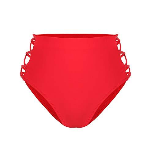 COLO-Women-Sexy-Bikini-Bottoms-Lace-Strappy-Sides-High-Waisted-Retro-Bathing