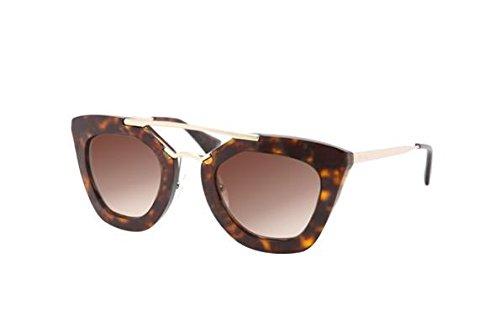 Prada Womens SPR09Q Cinema Sunglasses Havana 49mm