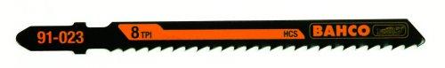 Bahco 91-233-5P T-Shank Jig Saw Blade 8 Teeth Per Inch, Side