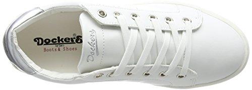 Bianco weiß 591 Dockers Basse Gerli Donna Sneaker weiss 38pd204 610 By silber WwOnWPa