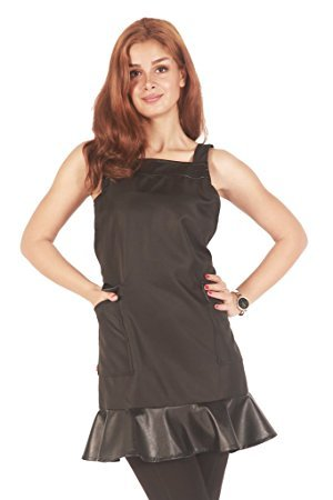 Stylist Wear - Ladybird Line Cross Back Stylist Fashion Wear Apron Bleach Resistant and Water Repellent Ideal for Hair Stylists Barbers- One Size Fits Most