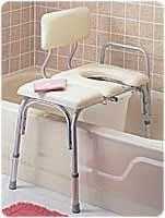 RMB15211 - Carex Health Brands Vinyl Padded Bathtub Transfer Bench w/Cut Out,Pail