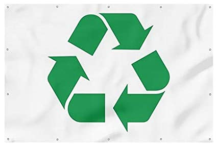 Recycling Symbol Green Heavy-Duty Outdoor Vinyl Banner CGSignLab 12x8
