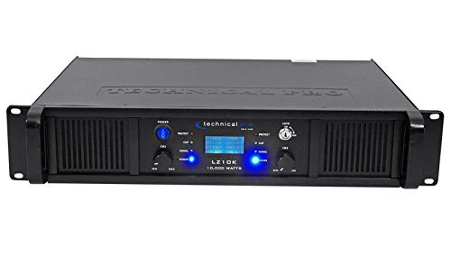 Lowest Price! Technical Pro LZ10K Professional 10,000 Watt 2-Channel Amplifier With LCD Display and ...