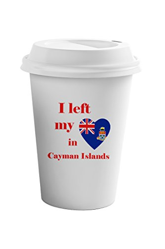 Cayman Travel Tumbler - Style In Print I Left My Heart In Cayman Islands Coffee Ceramic Travel Tumbler Mug 11oz