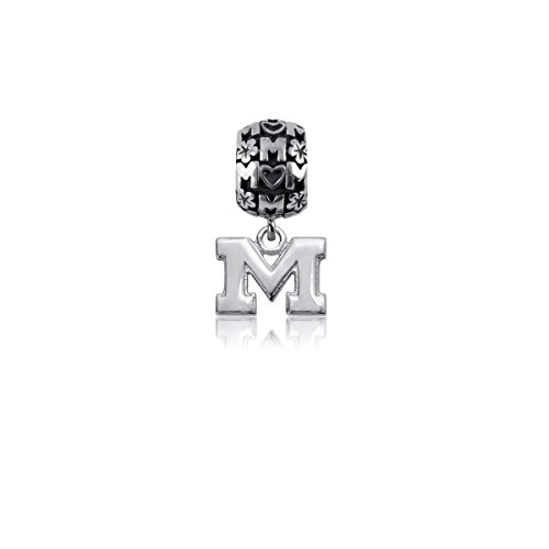 (University of Michigan Wolverines Sterling Silver Jewelry by Dayna Designs (Mom Charm)