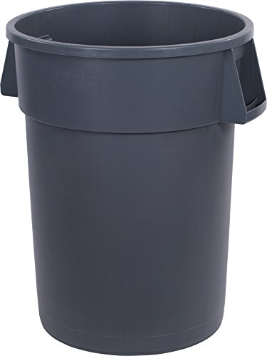 3 Waste Containers (Carlisle 34104423 Bronco Round Waste Container Only, 44 Gallon, Gray (Pack of 3))
