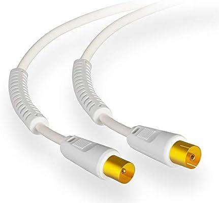 Cable Conexión Satélite Digital HB 3m Enchufe F De Enchufe F ...