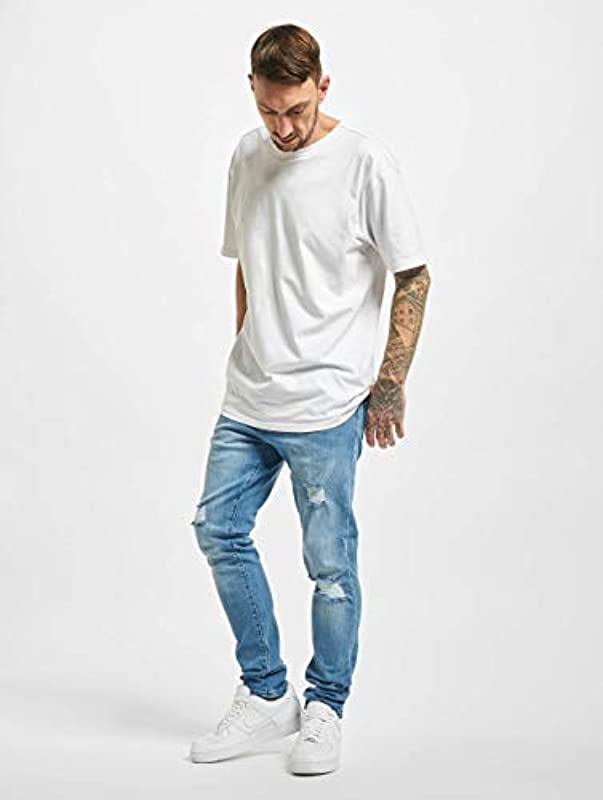 2Y Męskie Slim Fit Jeans Cam blau W 31: Odzież