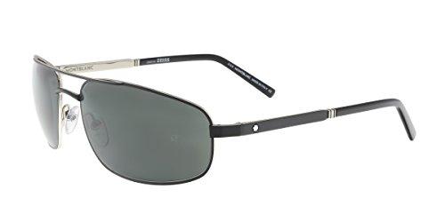 Sunglasses Montblanc MB 650 S MB 650 S 02A matte black / - Blanc Mens Mont Sunglasses