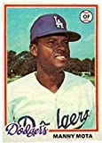 1978 Topps Regular (Baseball) Card# 228 Manny Mota of the Los Angeles Dodgers Ex Condition