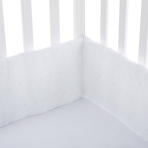Babydoll Bedding White Eyelet Cradle Bumper Size, 18'' x 36'' by BabyDoll Bedding