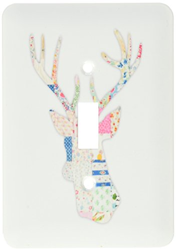 lsp_179697_1 Colorful Girly Deer Head Silhouette Modern C...