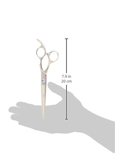 8.0-Inch SHEARSDIRECT Professional Cutting Shear Off Set Handle Design with Anatomic Thumb and Gem Stone Tension