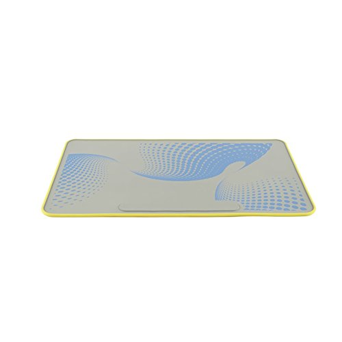 - Heathrow Scientific HS120506 Lab Mat, HS120506, Silicone benchop Protector, Side One Yellow, Side Two Grey with Blue Design