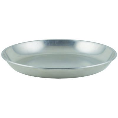 Winco ASFT-14, 120-Ounce Brushed Aluminum Round Serving Seafood Platter -
