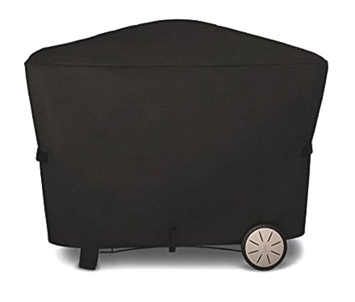 Outspark BBQ Grill cover for Weber Q2000 Q3000 Series with Stationary Cart - Equivalent to Weber 7112 Grill Cover, 58 x 22 x 40 inches