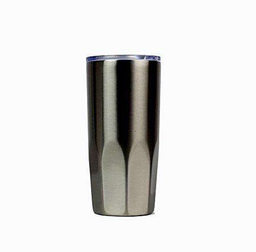 Justop Stainless Steel Tumbler - Insulated - Double-Wall Vacuum Tumbler with Lid - Travel Mug - Keep Cold or Hot Drinks at the Perfect Temperature (Dark Green, 20 (Alabama Insulated Bottle)