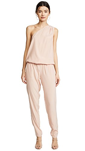 (Ramy Brook Women's Lulu One Shoulder Jumpsuit, Blush, X-Small)
