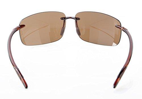 5f27b1a289 ... Eyekepper Lunettes de soleil Style Pilote demi-cerclee TR90 nylon sans  monture pour homme femme ...