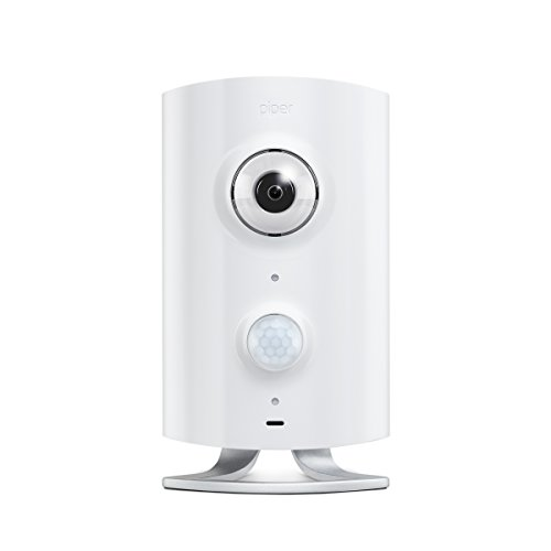 Piper classic All-in-One Security System with Video Monitoring Camera, White