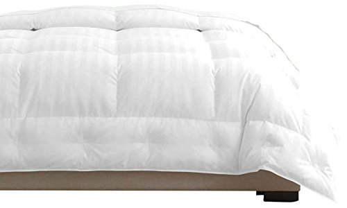 Pacific Coast White Goose Down Comforter 650 Fill Power, Certified Allergy Free and 500 Count 100% Cotton, FULL / QUEEN 90''x 98'' by Pacific Coast (Image #1)