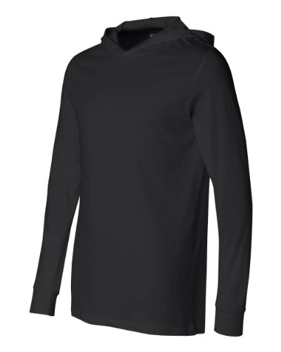 Pullover Hooded Bella (Canvas Unisex Unisex Driftwood Long Sleeve Hooded T-Shirt. 3512 - Black 3512 M)