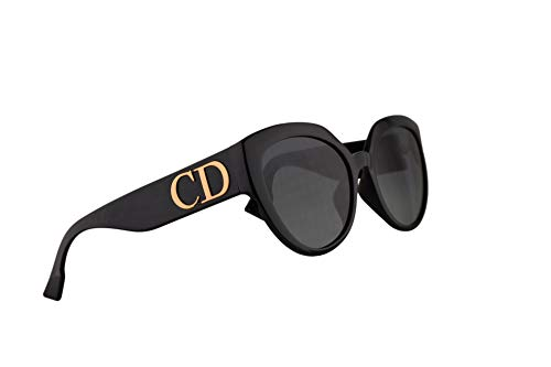 Christian Dior DDiorF Sunglasses Black w/Grey Lens 56mm 8071I DDior