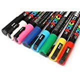 """POSCA PC-1M ART MARKER PENS """"PACK OF 8"""" Assorted Colours"""