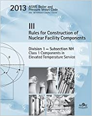 BPVC Section III-Rules for Construction of Nuclear Facility Components-Division 1-Subsection NH-Class 1 Components in Elevated Temperature Service