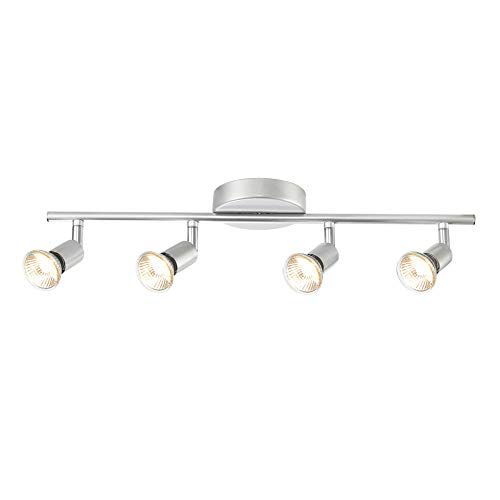 Globe Electric 58932 Payton 4-Light Track Lighting, Matte Silver
