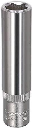 "Sealey SP3808D WallDrive Socket 8mm Deep 3//8/""Sq Drive Fully Polished"