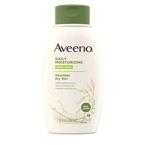 Aveeno Daily Moisturizing Body Wash with Soothing Oat, Creamy Shower Gel, Soap-Free and Dye-Free, Light Fragrance, 12 fl. oz (Packaging May Vary), pack of 3 ()