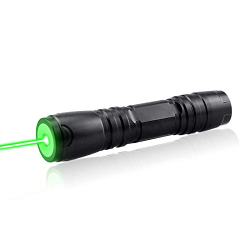 Kinsom Green Tactical Hunting Rifle Scope Sight Green Laser Pen Demo Remote Pen Pointer Projector Travel Outdoor Flashlight LED Interactive Baton Funny Laser Toy